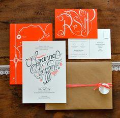 My Wedding Invites by Joanna Lane, via Behance