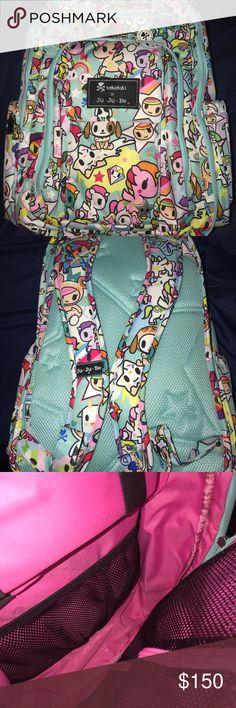 Ju-Ju-be Unikiki tokidoki BRB backpack Be right back diaper bag EUC+ Still very crisp, only used once No change pad Open to trades  DISO DREAMWORLD BRB!! thanks for looking!  Jujube Jjb unikiki tokidoki Bags Backpacks