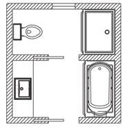 Bathroom layouts on pinterest bathroom floor plans for Bathroom ideas 9x9