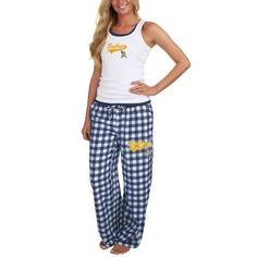 Buffalo Sabres Ladies Paramount Tank Top and Pants Set - White Navy Blue Buffalo  Sabres 28d7acecd