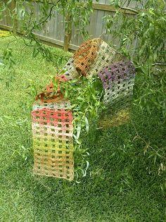 Noro Windowpane Scarf by Adrienne Lash  Materials: One Skein (459 yards) Noro Taiyo Sock Yarn, Size E Crochet Hook. Stitches & Abbreviat...