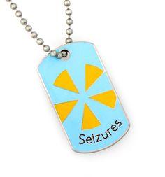 Seizures Mini Medical ID Dog Tag