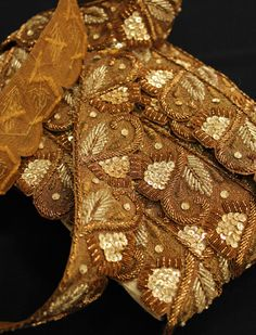 The Dancing Queen - stunning metallic trim - vintage trim - piping trim - beaded trim - cotton braid - indian trim - metallic trim - sequin trim - embroidered braid - gold braid - gold trim