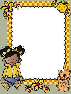 Frame Border Design, Boarder Designs, School Binder Covers, Boarders And Frames, Frame Layout, Drawing Tutorials For Kids, School Frame, Kids Background, Framed Wallpaper