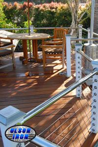 Olson Iron can design your stair railing with the exceptional look of stainless steel.  #olsoniron