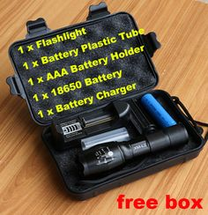 8000lm cree xm-l2 led lanterna de alumínio torch zoomable led tocha para 3 pilhas aaa ou 18650 bateria