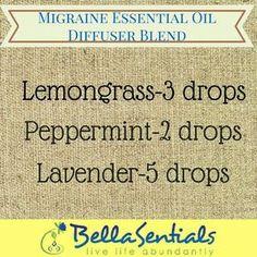 Essential oils diffuser blend migraine