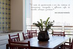 Open house - Ana Carolina Maranhão. Veja: http://casadevalentina.com.br/blog/detalhes/open-house--ana-carolina-maranhao-3092 #decor #decoracao #interior #design #casa #home #house #idea #ideia #detalhes #details #openhouse #style #estilo #casadevalentina #diningroom #saladejantar