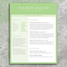 CV / Resume Template Cover Letter For MS Word By SpicyResumes