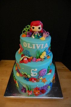 Olivia's Ariel Cake - Cake by Annie