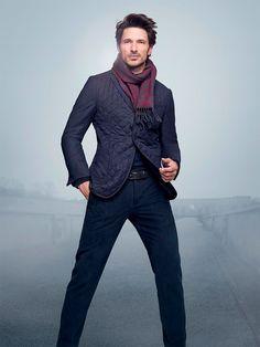 Corneliani tapped Andrés Velencoso for its Fall/Winter 2014 lookbook.
