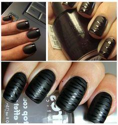 Rock & Chic Νύχια με μαύρο ματ εφέ! | Μοντέρνα Σταχτοπούτα. . .
