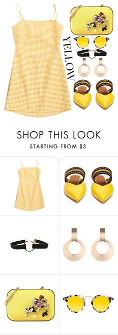 """Yellow"" by simona-altobelli ❤ liked on Polyvore featuring Roksanda, Dsquared2 and Krewe"