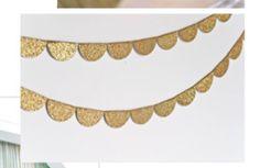 glitter scallops
