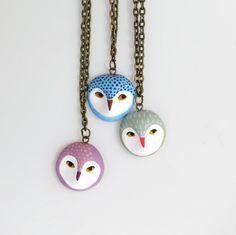 Owl head Necklaces