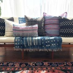 They're going quick but we still have some mudcloth and Hmong batik pillows up for grabs at over 20% off!