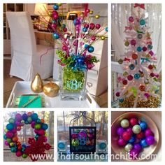 It's beginning to look like a Lilly Christmas - enjoying my white Lilly Pulitzer Christmas tree & colorful accents!   That Southern Chick