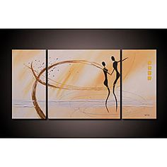 @Overstock - Add character and dimension to any room with this oversized hand-painted canvas art. 'Dancing in the Wind' depicts two figures dancing with swirls of color around them, giving this gallery-wrapped canvas art set a sense of movement and liquidity. http://www.overstock.com/Home-Garden/Dancing-in-the-Wind-Hand-painted-3-piece-Canvas-Art-Set/5204515/product.html?CID=214117 $154.99