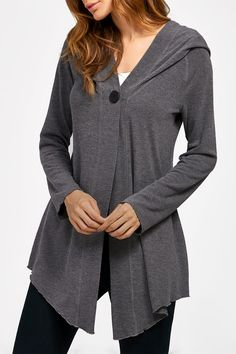 $20.08 Asymetrical Hooded Cardiagn