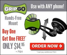 The GripGo Universal Hands-Free Mount permits you to keep your phone where you could glimpse at it if you require to without taking your attention from the road.