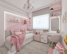30 Chic And Modern Ideas For Your Girl Bedroom. / 30 Chic And Modern Ideas For Your Girl Bedroom. Checkout these chic and modern bedroom ideas. Thirty chic and modern girl bedroom ideas you can copy now. Feed your design ideas now. Cute Bedroom Ideas, Cute Room Decor, Girl Bedroom Designs, Teen Room Decor, Teen Bedroom, Modern Bedroom, Bedroom Decor, Dream Rooms, Dream Bedroom