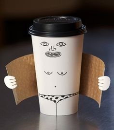 Exhibitionist #coffee cup by Brock Davis #packaging