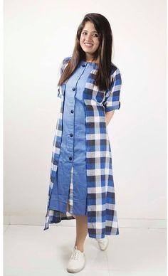 Skirt Long Casual Pattern 40 Ideas For 2019 Kurti Sleeves Design, Kurta Neck Design, Shrug For Dresses, Indian Gowns Dresses, Kurta Designs Women, Blouse Designs, Denim Kurti Designs, Fancy Kurti, Kurti Designs Party Wear