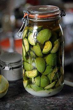 macerating green walnuts for liquer de noix green walnut by David Lebovitz, via Flickr