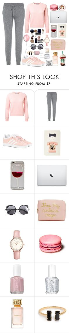 """""""Cozy Cashmere"""" by achernar ❤ liked on Polyvore featuring adidas Originals, Martha Stewart, Kate Spade, Wet Seal, Wood Wood, Forever 21, Topshop, Essie, Tory Burch and Lexington"""
