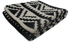 Aztec Eco Throw - Black & Linen - Happy Habitat by Karrie Kaneda Decorative Accessories, Home Accessories, Southwestern Home, Black Linen, Dot And Bo, Keep Warm, Modern Bedroom, Master Bedroom, Modern Rustic