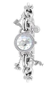 Women's Game Time Watches 'College - Iowa State University' Charm Bracelet Watch