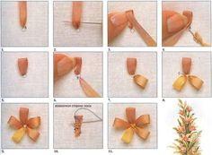 Учимся вышивать лентами. Типы швов / Вышивка лентами / В рукоделии