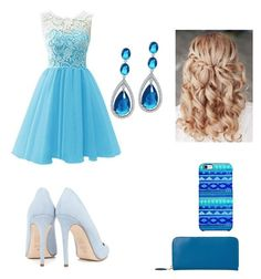 """prom"" by tina-five on Polyvore featuring Bling Jewelry, Uncommon, L.K.Bennett and Dee Keller"