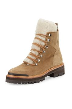 The warmest and stylish boot for the winter is lined in shearling fur.