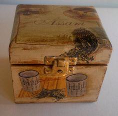 tea box storage box by PtahArtGallery on Etsy, €30.00