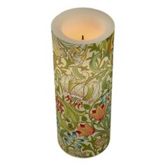William Morris Golden Lily Vintage Pre-Raphaelite Flameless Candle