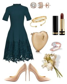"""engagement -i"" by s-haktanir on Polyvore featuring Christian Louboutin, Yves Saint Laurent, Gucci and National Tree Company"
