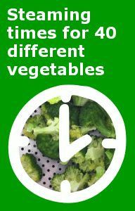 Vegetable Steaming Times (Chart) | Guide to Cooking Vegetables
