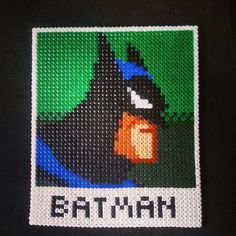 Batman perler beads by holydiaper