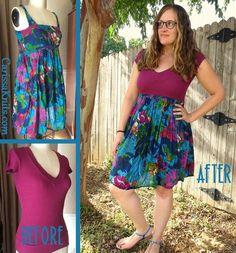 T-Shirt Dress Refashion by CarissaKnits