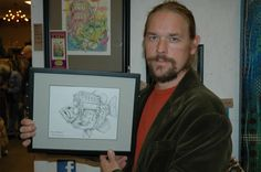 "3rd Place in 2-D Art, Robert Norman for ""Bass Transport"" ink on paper"