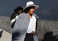 Another Tweed 3/4 length Jacket. NY Fashion week. Get the look with our jacket by Lauren Vidal. Paris: http://maxamcanada.com/look-books/lauren-vidal/