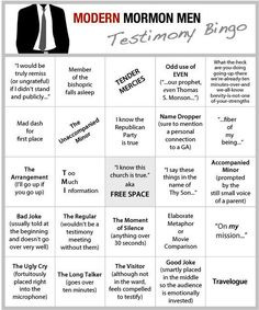 the newest accessory for fast sunday #bingo #mormonproblems