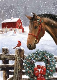 Merry Christmas Happy Holidays, Christmas Love, Country Christmas, Beautiful Christmas, Vintage Christmas, Christmas Horses, Cowboy Christmas, Christmas Scenes, Christmas Pictures