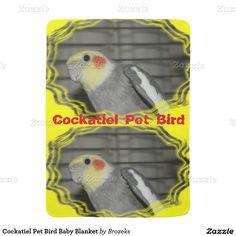 Cockatiel Pet Bird Baby Blanket