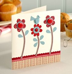 How To Make Paper Cards at Home - ArtsyCraftsyDad Pretty Cards, Cute Cards, Diy Cards, Scrapbooking, Scrapbook Cards, Button Cards, Card Tags, Card Kit, Paper Cards