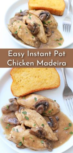 Only 237 calories in this tasty chicken and mushroom dish! Make it fast in the Instant Pot. Healthy Chicken Recipes, Turkey Recipes, Dinner Recipes, Savoury Recipes, Dinner Ideas, Instant Pot Pressure Cooker, Pressure Cooking, Slow Cooker Recipes, Crockpot Recipes