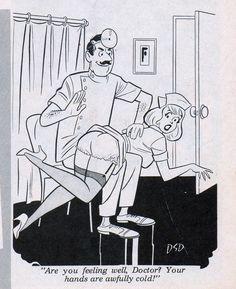 doctor spanks nurse smiley in dan decarlo cartoon