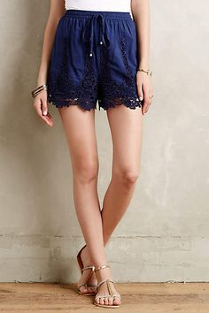Filigree Lace Shorts x Elevenses - anthropologie.com
