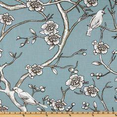 Dwell Studio Vintage Blossom Azure - Discount Designer Fabric - Fabric.com